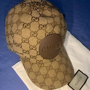 Gucci 'GG' Logo Baseball Hat with Leather Patch